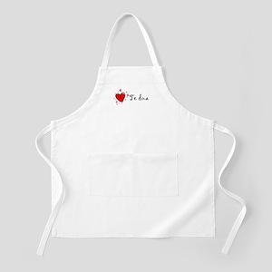 """I Love You"" [Albanian1] BBQ Apron"